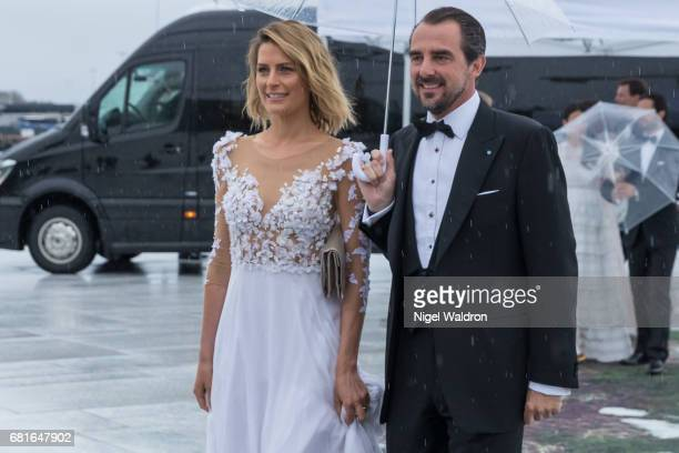 Prince Nikolaos Greece and Princess Tatiana Greece arrives at the Opera House on the occasion of the celebration of King Harald and Queen Sonja of...