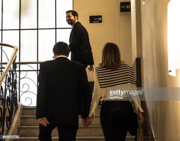 Prince Nikolaos of Greece and Denmark and his wife Princess Tatiana of Greece and Denmark as the arrive in concert of Carla Bruni Athens Greece 24...