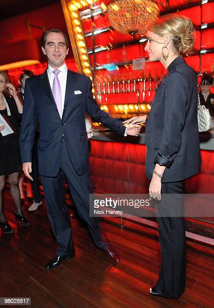 Prince Nikolaos of Greece and Denmark and Tatiana Blatnik attend The ICA Fundraising Gala at KOKO on March 24, 2010 in London, England.