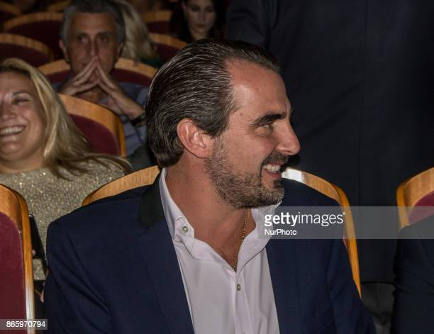Prince Nikolaos of Greece and Denmark attends concert of Carla Bruni in Athens Greece 24 October 2017 French Touch is the title of Brunis new album...