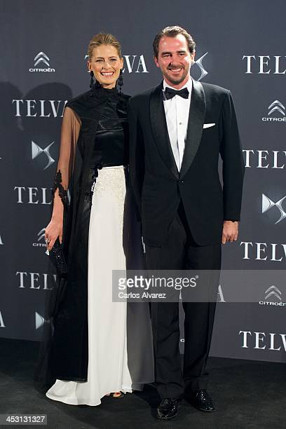 Prince Nikolaos of Greece and Princess Tatiana of Greece attend the Telva Magazine Fashion Awards 2013 at the Palacio de Cibeles on December 2 2013...