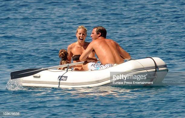 Prince Nikolaos of Greece and Tatiana Blatnik is sighted on August 24 2010 in Spetses Greece