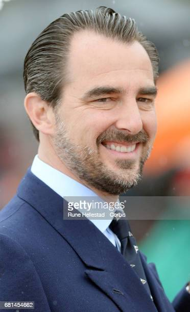 Prince Nikolaos of Greece attends a luncheon on the Royal yacht Norge, on the occasion of the celebration of King Harald and Queen Sonja of Norway 80...