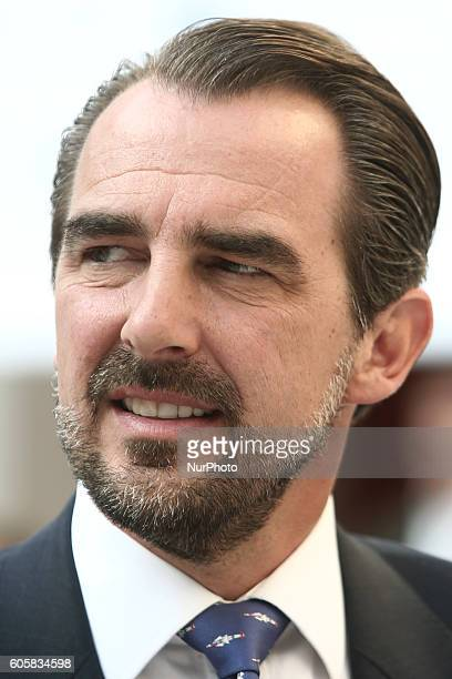 Prince Nikolaos of Greece attends a session in the context of the fourth annual Athens Democracy Forum at Zappeion hall on September 14 2016