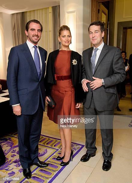 Prince Nikolaos of Greece Princess Tatiana of Greece and Matthew Dixon attend The British Red Cross International Fundraising Committee Evening at...