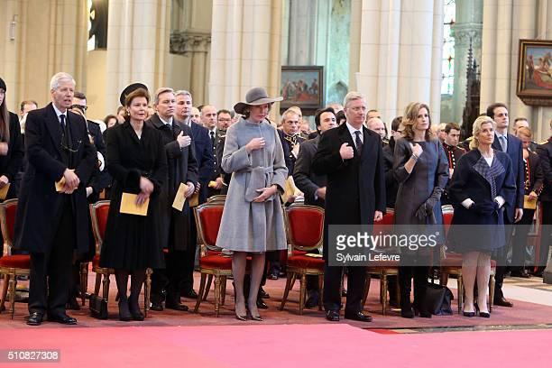 Prince Nikolaus of Liechtenstein, Princess Margaretha of Liechtenstein, Queen Mathilde of Belgium, King Philippe of Belgium, Princess Esmeralda of...