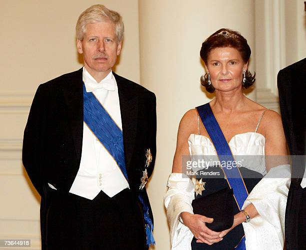 Prince Nikolaus, Princess Margaretha pose for a photo at Laeken Castle on March 20 , 2007 in Brussels, Belgium. The Grand Duke From Luxembourg and...