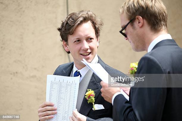 Prince Nikolaus von FuggerBabenhausen son of Hubert Fuerst von FuggerBabenhausen and Alexandra von FuggerBabenhausen during the wedding of hereditary...
