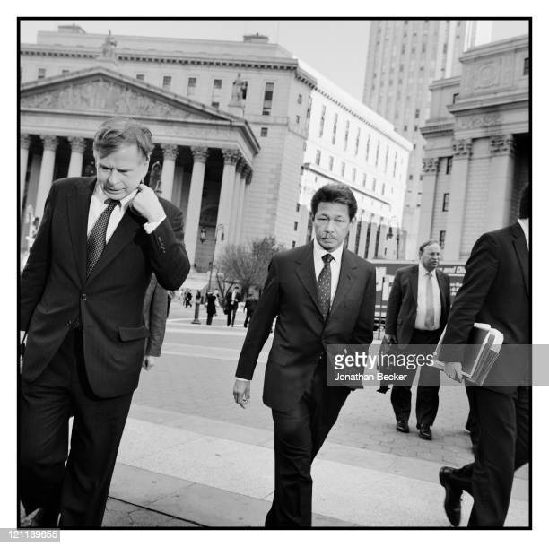 Prince of Brunei, Prince Jefri Bolkiah is photographed leaving the State Supreme Court with some of his lawyers for Vanity Fair Magazine on November...