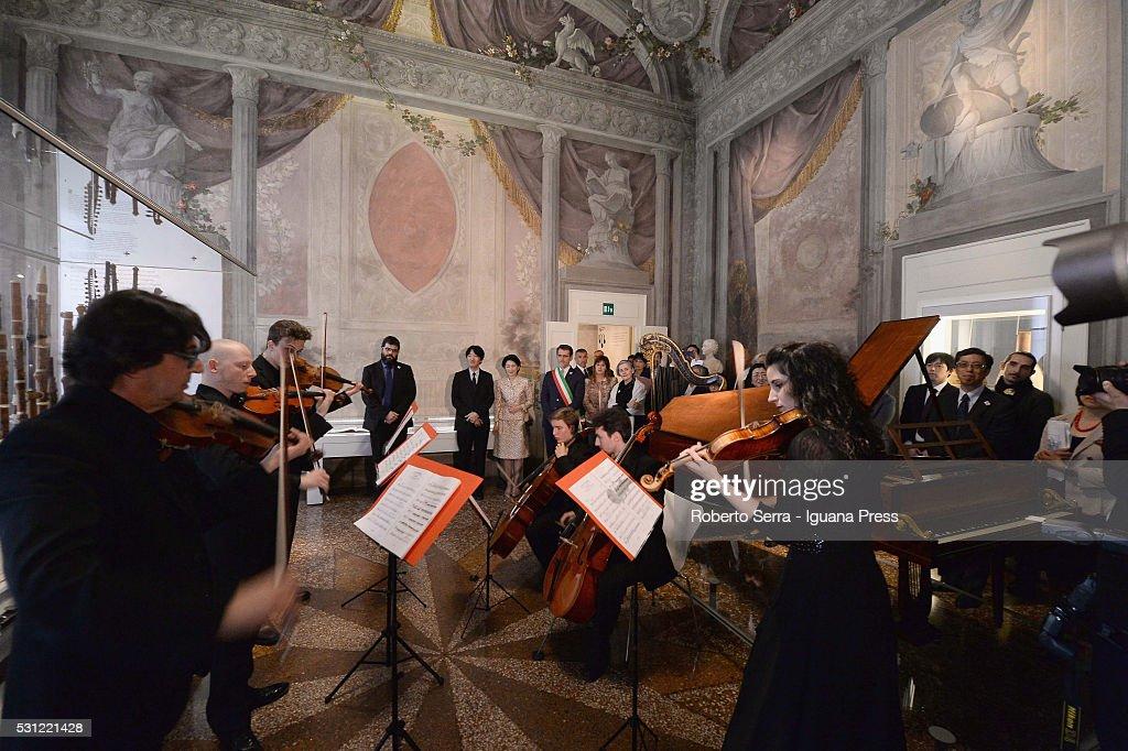 Prince And Princess Akishino Visit Bologna : News Photo