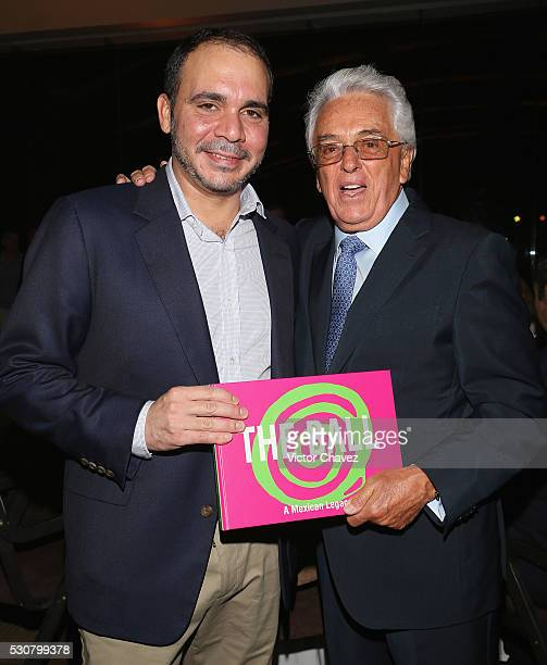 Prince of Jordan Ali Bin al Hussein and Honorary president mexican football federation FMF Justino Compean attend the Soccerex Americas Forum VIP...