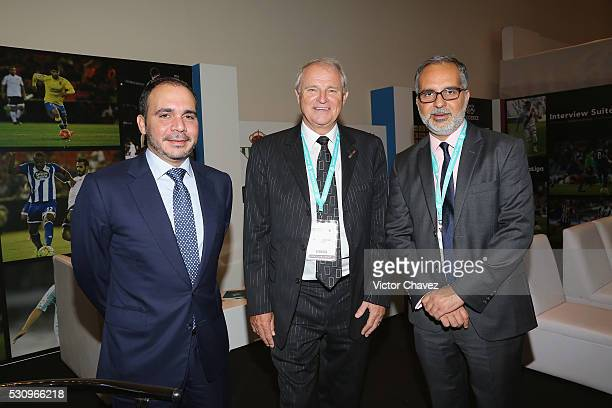 Prince of Jordan Ali Bin al Hussein Chairman Soccerex Tony Martin and guest attend the Soccerex Americas Forum Mexico City Day 1 at Camino Real...