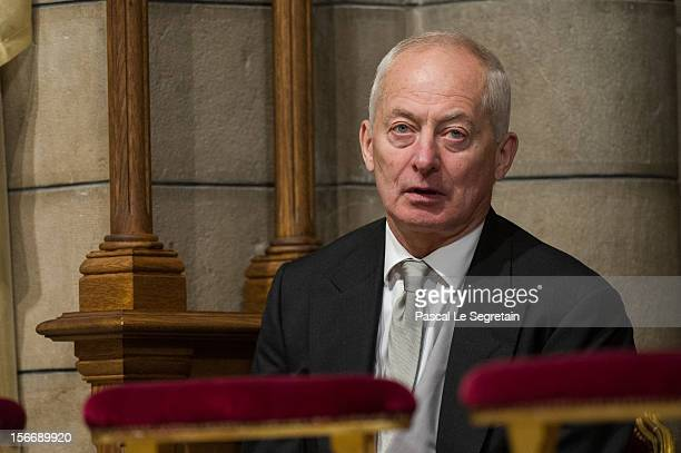 Prince of Liechtenstein Hans Adam II attends a mass in the Cathedral of Monaco, as part of the official ceremonies marking the Monaco National Day at...