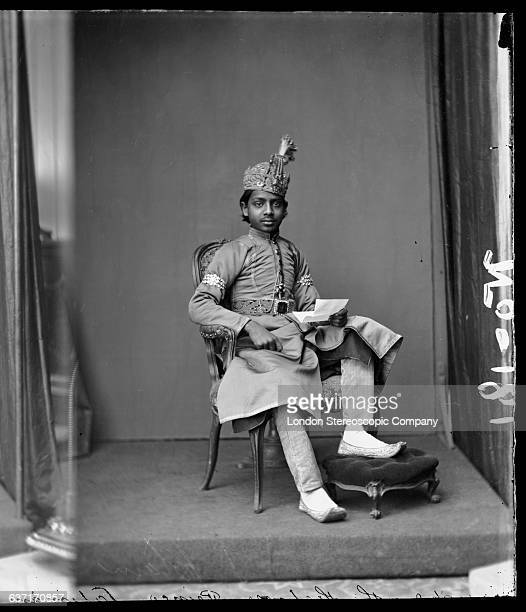 A prince of one of the princely states of British colonial India circa 1890