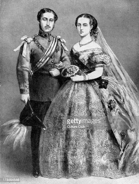 Prince of Wales and Alexandra of Denmark following their marriage on 10 March 1863 at St George 's Chapel Windsor Future Edward VII King of the...