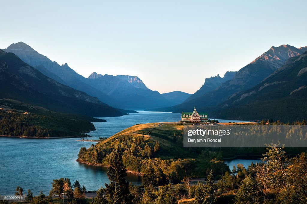 Prince Of Wales Hotel Waterton Lakes National Park Alberta Canada Stock Photo