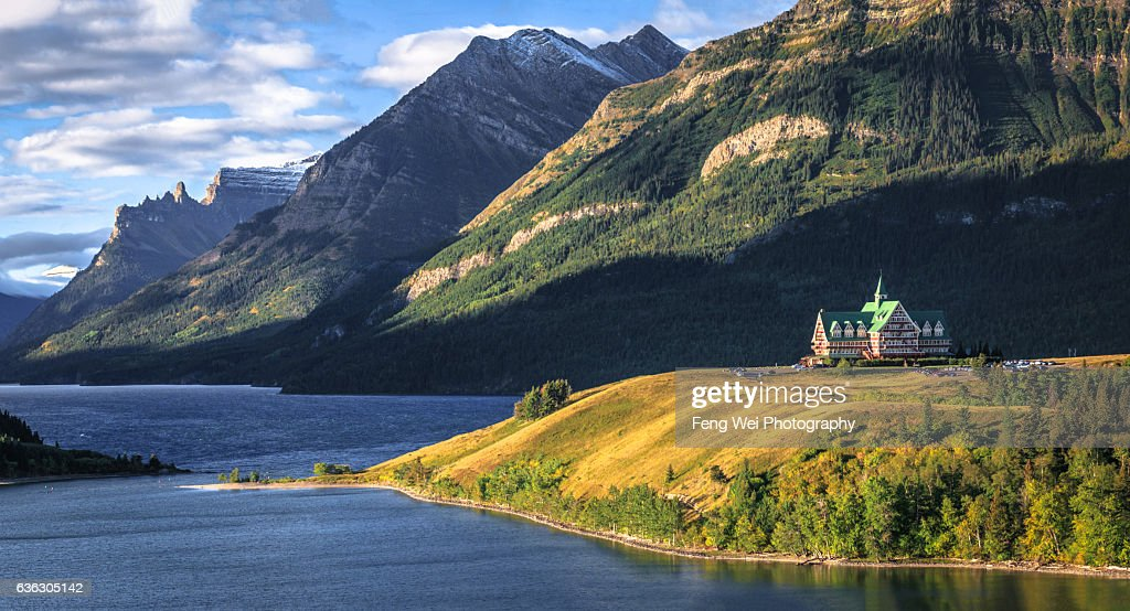 Prince Of Wales Hotel Waterton Lakes National Park Alberta Canada Stock Photo
