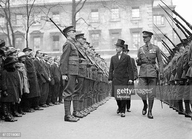 Prince of Wales inspecting Honourable Artillery Company Guard of Honour 18th February 1921