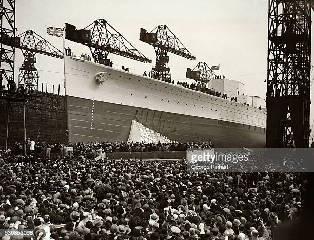 HMS Prince of Wales the second of five battleships of the King George V authorized in construction programs of 19361937 was launched today by the...