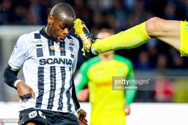 Prince Oniangue of Angers during the Ligue 1 match between Angers SCO and Nantes at Stade Raymond Kopa on May 12 2018 in Angers