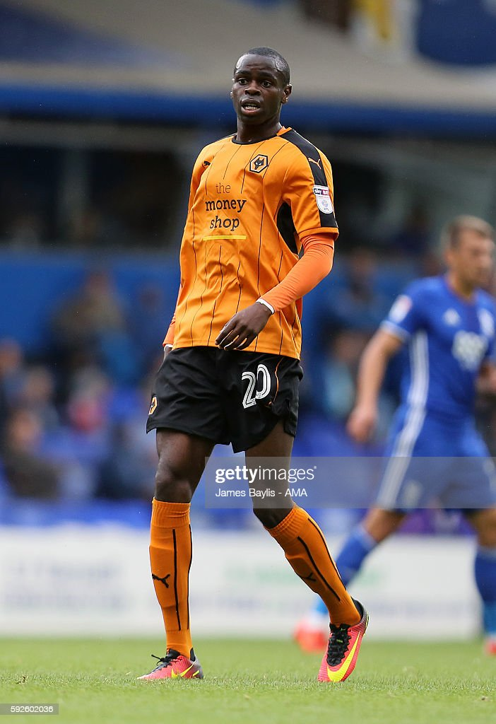 Prince Oniangue of Wolverhampton Wanderers during the Sky Bet Championship match between Birmingham City and Wolverhampton Wanderers at St Andrews (stadium) on August 20, 2016 in Birmingham, England.