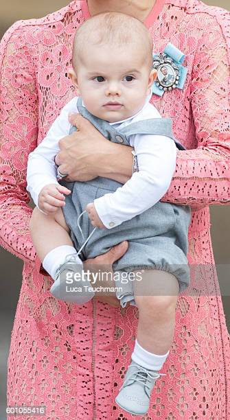 Prince Oscar attends the christening of Prince Alexander of Sweden at Drottningholm Palace Chapel on September 9 2016 in Stockholm Sweden