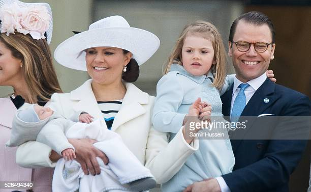 Prince Oscar of Sweden Crown Princess Victoria of Sweden Prince Daniel of Sweden and Princess Estelle of Sweden attend the choral tribute and cortege...