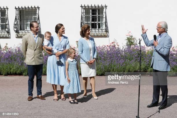 Prince Oscar of Sweden, Prince Daniel of Sweden, Princess Estelle of Sweden, Crown Princess Victoria of Sweden, Queen Silvia of Sweden and King Carl...