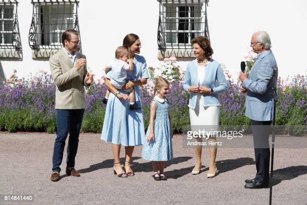 Prince Oscar of Sweden Prince Daniel of Sweden Princess Estelle of Sweden Crown Princess Victoria of Sweden Queen Silvia of Sweden and King Carl...