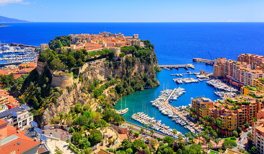 Prince Palace and old town of Monaco, France 686005142
