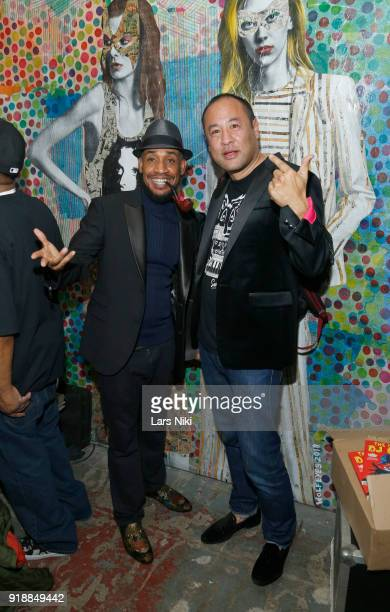 Prince Paul and Dan the Automator of Handsome Boy Modeling School perform as Saks and Good Luck Dry Cleaners Host a Tribute to the Late Phife Dawg at...