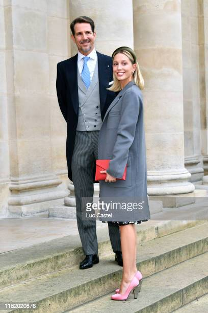 Prince Paul de Grece and his daughter Princess Olympia de Grece attend the Wedding of Prince JeanChristophe Napoleon and Olympia Von ArcoZinneberg at...