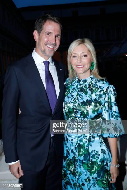 Prince Paul de Grece and his wife Princess Marie-Chantal de Grece attend the 58th International Art Biennale in Venice - Dinner Gala at 'Fondazione...