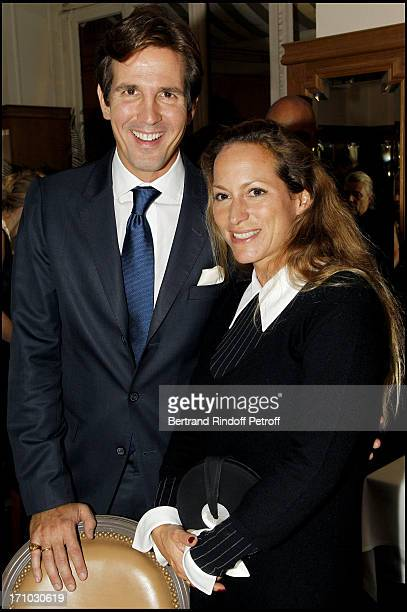 Prince Paul of Greece and Princess Zahra Aga Khan at Exhibition Opening Of Yul Brynner's A Photographic Journey At Galerie Du Passage In Paris