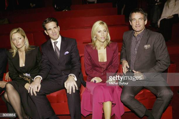 Prince Paul of Greece wife Chantal Princesse Alexandra von Furstenberg and Tim Jeffries attend the Yves Saint Laurent readytowear AutumnWinter...
