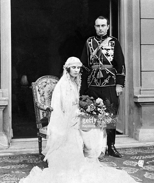 Prince Paul Of Serbia The Future Regent Of Yugoslavia Married Princess Olga Of Greece And Denmark On October 22 1923 They Are Pictured Here On The...