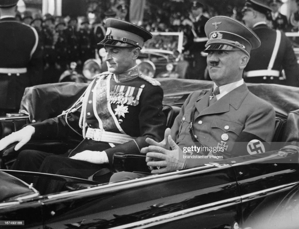 Prinzregent Paul von Jugoslawien und Adolf Hitler : News Photo