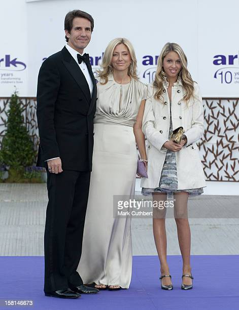Prince Pavlos And MarieChantel With Princess Maria Olympia Of Greece Arrive At The Ark Gala Dinner In London
