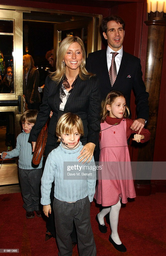 Prince Pavlos and Princess Marie-Chantel of Greece with their children Maria-Olympia, Constantine Alexios and Achileas Andreas attend the 'Mary Poppins' Gala Preview ahead of tomorrow's press night at the Prince Edward Theatre on December 14, 2004 in London.