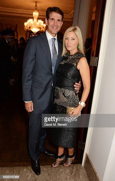 Prince Pavlos Crown Prince of Greece and MarieChantal Crown Princess of Greece attend as Ambassador Barzun Mrs Brooke Barzun and Alexandra Shulman...