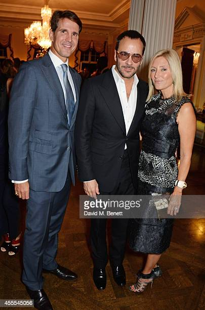 Prince Pavlos Crown Prince of Greece Tom Ford and MarieChantal Crown Princess of Greece attend as Ambassador Barzun Mrs Brooke Barzun and Alexandra...