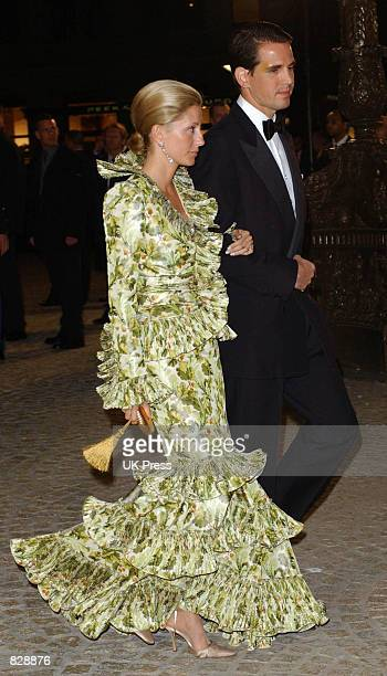 Prince Pavlos of Greece and Marie Chanta attend a dinner and party at the Royal Palace in honor of the wedding of Dutch Crown Prince WillemAlexander...