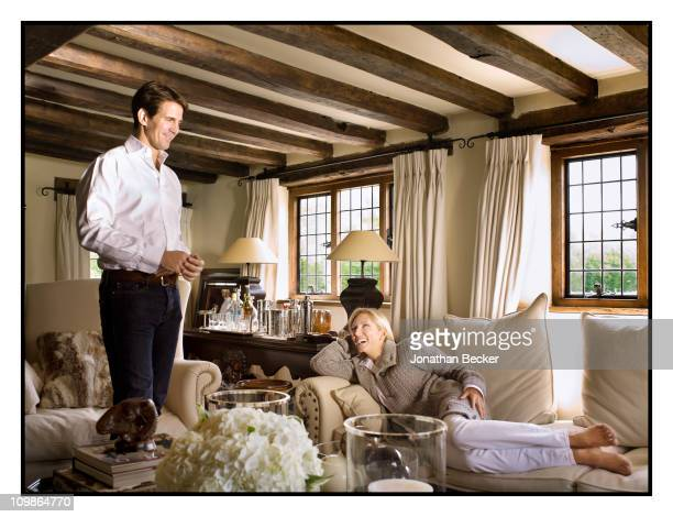 Prince Pavlos of Greece and Princess MarieChantal are photographed at their home 'Beale House' for Vanity Fair Spain on May 23 2009 in West Sussex...