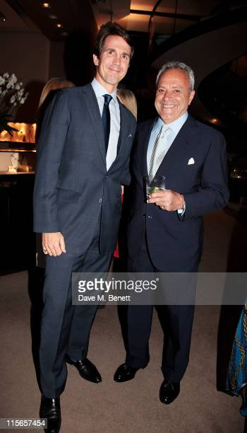 Prince Pavlos of Greece and Taki Theodoracopulos attend a cockail party celebrating 35 years of Taki's 'High Life' column hosted by Asprey and The...