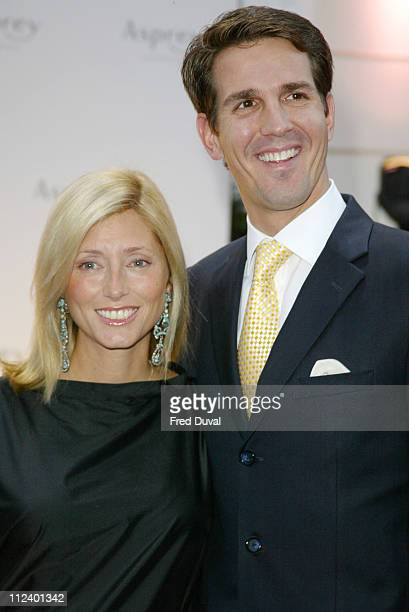 Prince Pavlos of Greece and wife MarieChantel during Asprey Reopens Bond Street Store at Asprey in London Great Britain