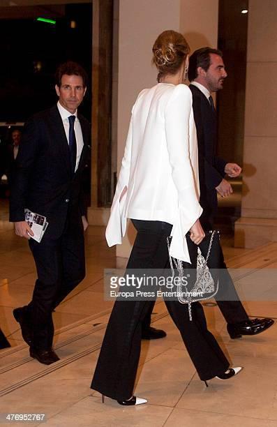 Prince Pavlos of Greece Princess Tatiana of Greece and Prince Nikolaos Of Greece attend a screening of a documentary about King Paul I of Greece on...