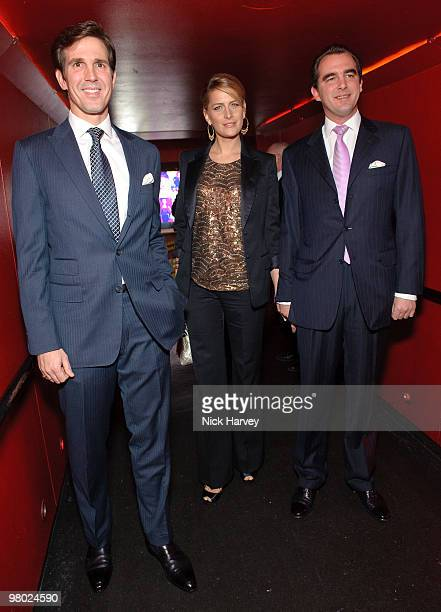 Prince Pavlos of Greece, Tatiana Blatnik and Prince Nikolas of Greece attend The ICA Fundraising Gala at KOKO on March 24, 2010 in London, England.