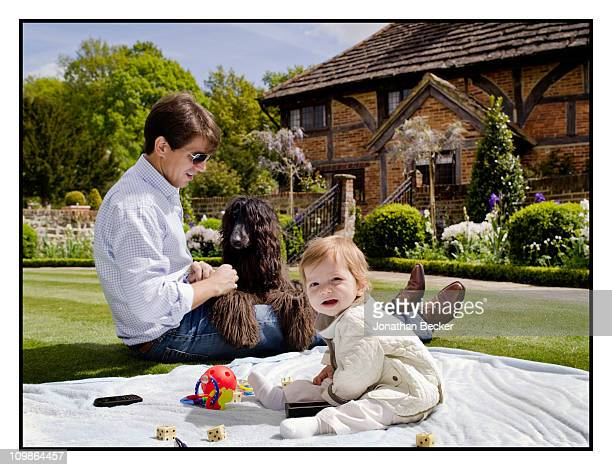 Prince Pavlos of Greece with Prince AristidisStravos are photographed at their home 'Beale House' for Vanity Fair Spain on May 23 2009 in West Sussex...