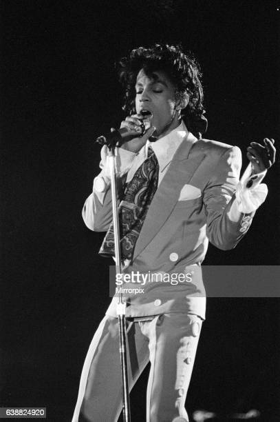 Prince performing at the NEC during his Lovesexy tour 5th August 1988