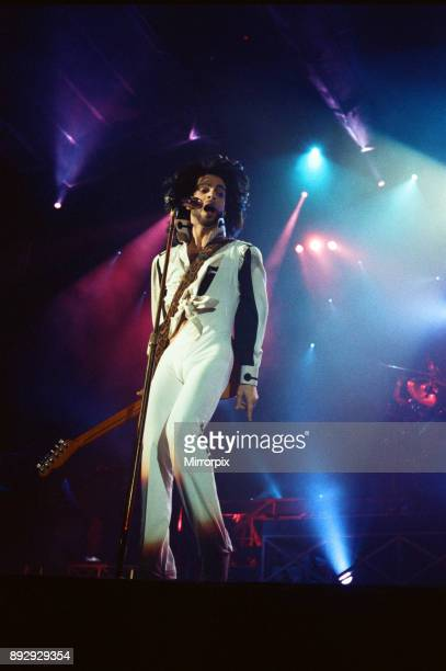 Prince performing at the NEC during his Nude tour 29th June 1990